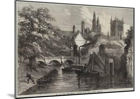The Cam River Improvements, Dredging at St John's Bridge, Cambridge--Mounted Giclee Print
