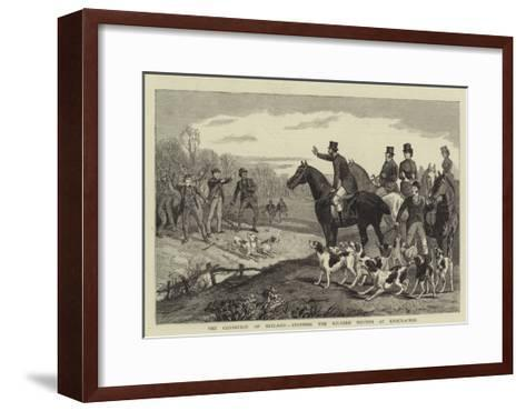 The Condition of Ireland, Stopping the Kildare Hounds at Knockacree--Framed Art Print