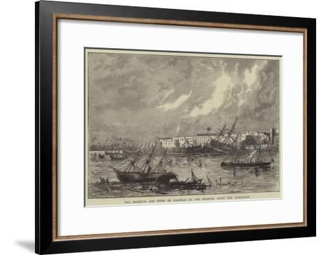 The Harbour and Town of Zanzibar on the Morning after the Hurricane--Framed Art Print