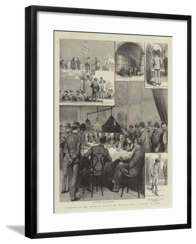 Gambling in the South of Europe, Mr Wildair Tries a System at Cadiz--Framed Art Print