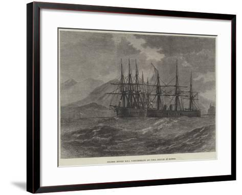 Collision Between HMS Northumberland and HMS Hercules at Madeira--Framed Art Print