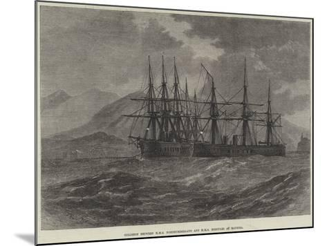 Collision Between HMS Northumberland and HMS Hercules at Madeira--Mounted Giclee Print