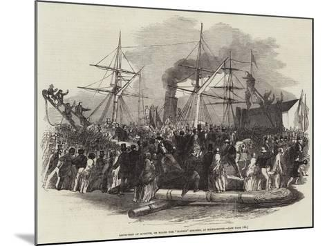 Reception of Kossuth, on Board the Madrid Steamer, at Southampton--Mounted Giclee Print