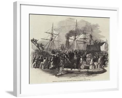 Reception of Kossuth, on Board the Madrid Steamer, at Southampton--Framed Art Print