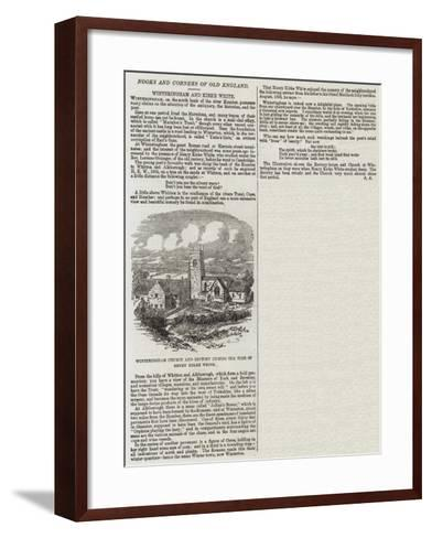 Winteringham Church and Rectory During the Time of Henry Kirke White--Framed Art Print