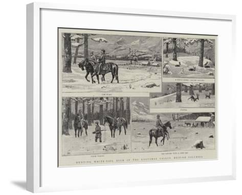 Hunting White-Tail Deer in the Kootenay Valley, British Columbia--Framed Art Print