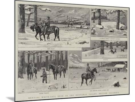 Hunting White-Tail Deer in the Kootenay Valley, British Columbia--Mounted Giclee Print
