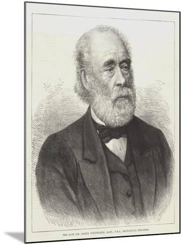 The Late Sir Joseph Whitworth, Baronet, Frs, Mechanical Engineer--Mounted Giclee Print