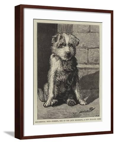 Regimental Pets, Pokeno, Dog of the 50th Regiment, a New Zealand Hero--Framed Art Print