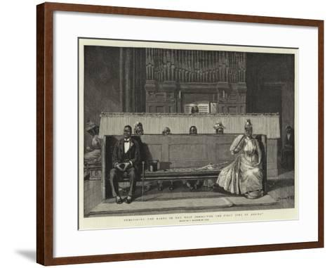 Publishing the Banns in the West Indies For the First Time of Asking--Framed Art Print