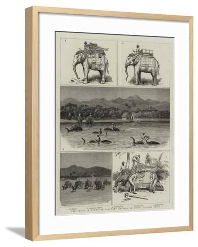 The Crisis in Burma, an Elephant Battery at Tongo, Eastern India--Framed Art Print
