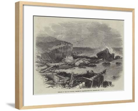 Remains of the Ship Eugenie, Wrecked in Ballymacotter Bay, Ireland--Framed Art Print