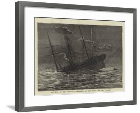 The Loss of the Teuton, Foundering of the Vessel Off Cape Hanglip--Framed Art Print