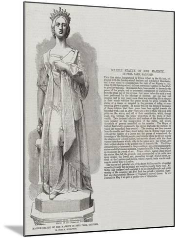 Marble Statue of Her Majesty in Peel Park, Salford, M Noble, Sculptor--Mounted Giclee Print
