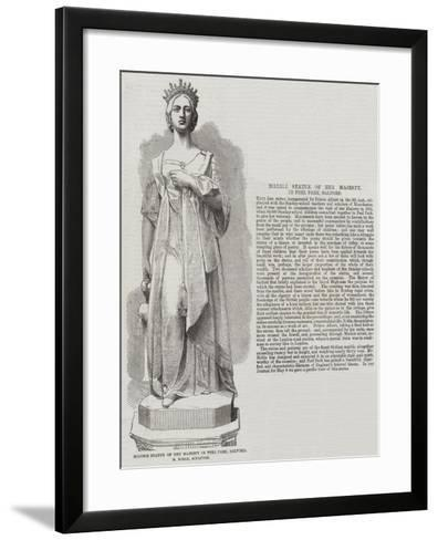 Marble Statue of Her Majesty in Peel Park, Salford, M Noble, Sculptor--Framed Art Print