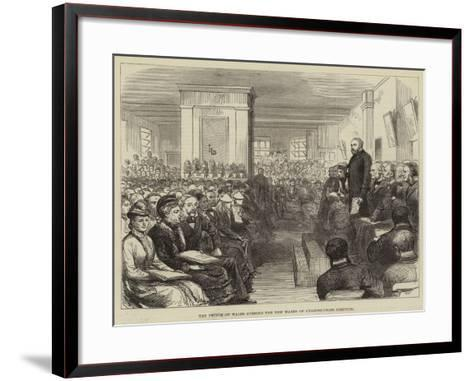 The Prince of Wales Opening the New Wards of Charing-Cross Hospital--Framed Art Print