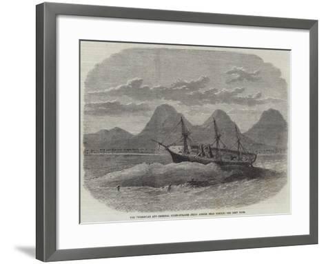 The Peninsular and Oriental Screw-Steamer Jeddo Ashore Near Bombay--Framed Art Print