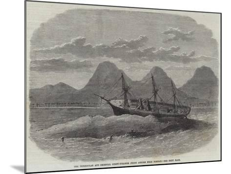 The Peninsular and Oriental Screw-Steamer Jeddo Ashore Near Bombay--Mounted Giclee Print