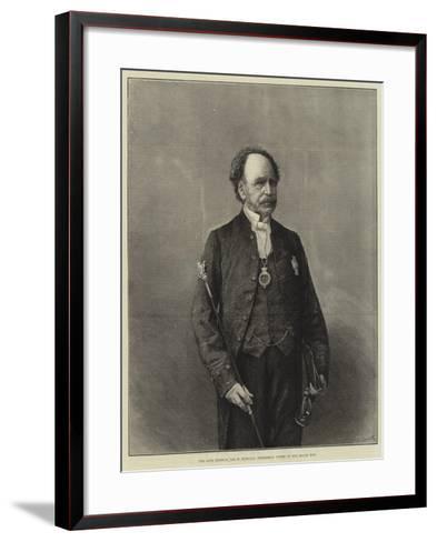 The Late General Sir W Knollys, Gentleman Usher of the Black Rod--Framed Art Print