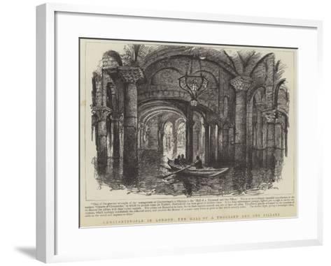 Constantinople in London, the Hall of a Thousand and One Pillars--Framed Art Print