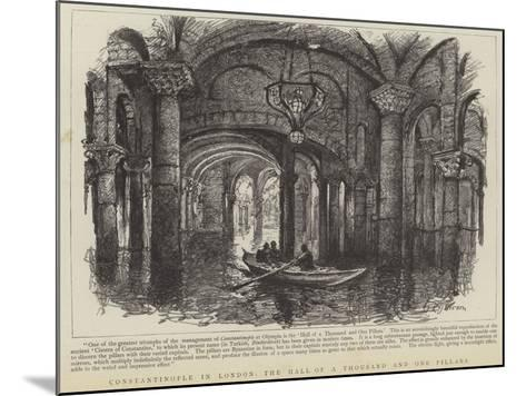 Constantinople in London, the Hall of a Thousand and One Pillars--Mounted Giclee Print