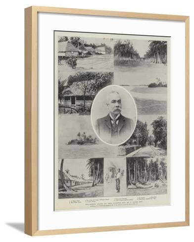 Cocos-Keeling Islands and their Uncrowned King, Mr G Clunies Ross--Framed Art Print
