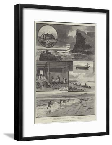 Sketches of the Behring Sea Seal-Fishery, St Paul's, Pribylov Islands--Framed Art Print