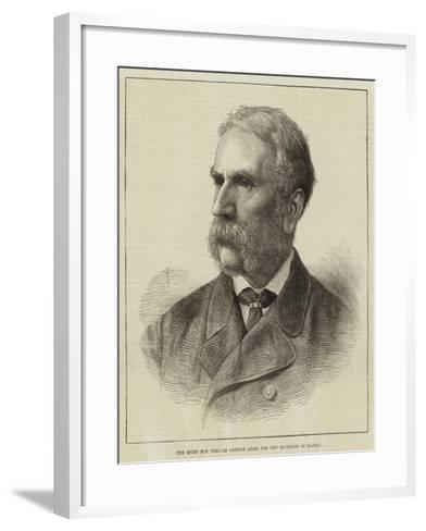 The Right Honourable William Patrick Adam, the New Governor of Madras--Framed Art Print