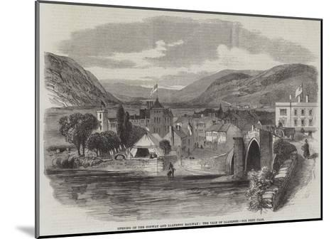 Opening of the Conway and Llanrwst Railway, the Vale of Llanrwst--Mounted Giclee Print
