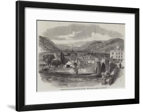 Opening of the Conway and Llanrwst Railway, the Vale of Llanrwst--Framed Art Print