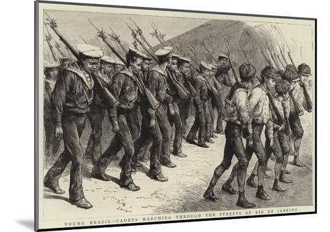 Young Brazil, Cadets Marching Through the Streets of Rio De Janeiro--Mounted Giclee Print