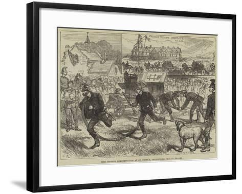 Fire Brigade Demonstration at St Peter'S, Broadstairs, Isle of Thanet--Framed Art Print