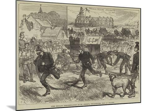 Fire Brigade Demonstration at St Peter'S, Broadstairs, Isle of Thanet--Mounted Giclee Print