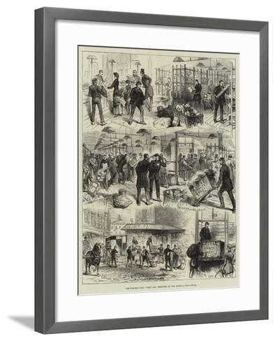 The Parcels Post, First Day, Sketches at the General Post Office--Framed Art Print
