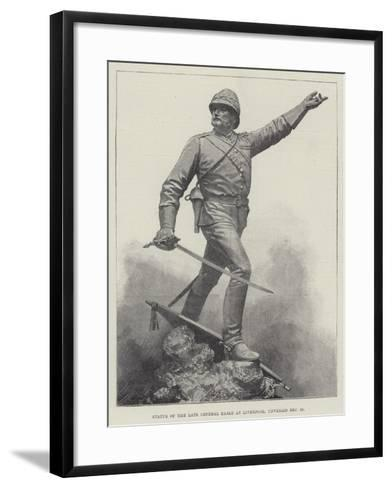 Statue of the Late General Earle at Liverpool, Unveiled 16 December--Framed Art Print