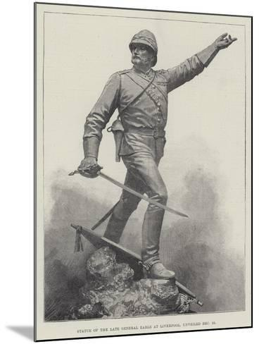 Statue of the Late General Earle at Liverpool, Unveiled 16 December--Mounted Giclee Print
