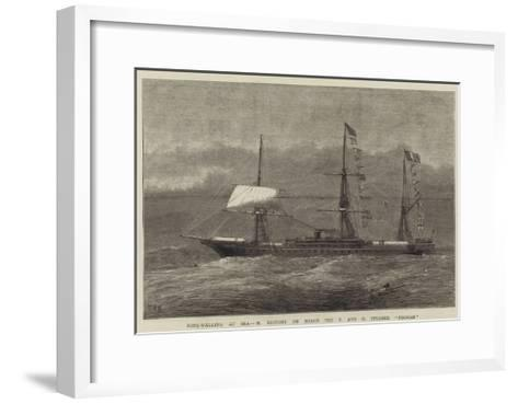 Rope-Walking at Sea, M Blondin on Board the P and O Steamer Poonah--Framed Art Print