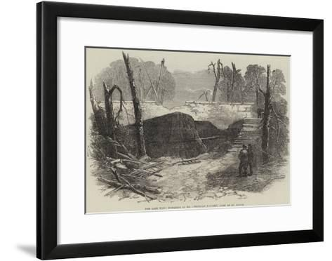 The Late War, Magazine of No 1 Prussian Battery, Park of St Cloud--Framed Art Print