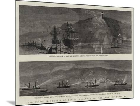 The Recent Manoeuvres of the C Squadron Off the Coast of Scotland--Mounted Giclee Print