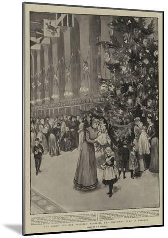 The Queen and Her Soldiers' Families, the Christmas Tree at Windsor--Mounted Giclee Print