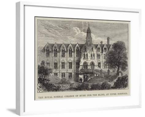 The Royal Normal College of Music for the Blind, at Upper Norwood--Framed Art Print