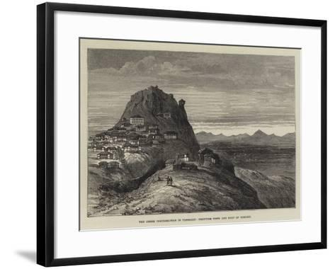 The Greek Insurrection in Thessaly, Frontier Town and Fort of Domoko--Framed Art Print