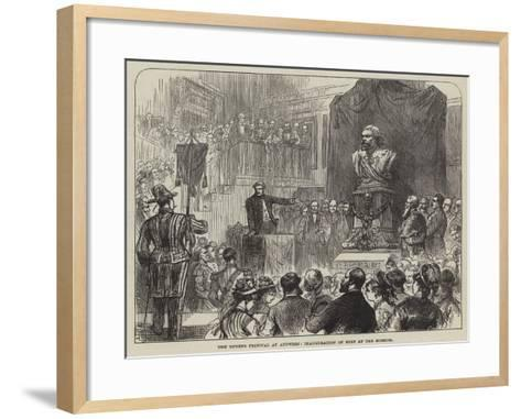 The Rubens Festival at Antwerp, Inauguration of Bust at the Museum--Framed Art Print