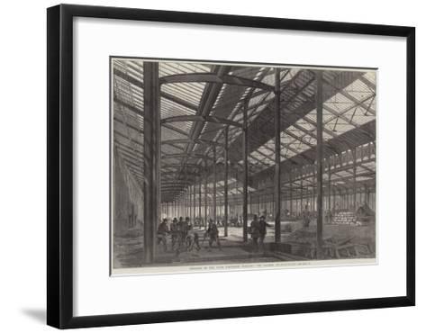 Progress of the Paris Exhibition Building, the Galerie Internationale--Framed Art Print