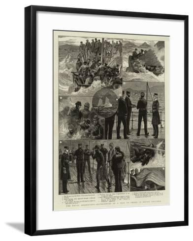 The Naval Manoeuvres Experiences of a Trip to Shore in Rough Weather--Framed Art Print