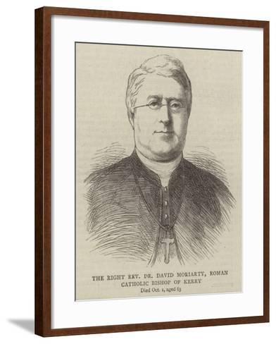 The Right Reverend Dr David Moriarty, Roman Catholic Bishop of Kerry--Framed Art Print