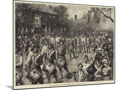 The Occupation of New York by the American Troops, 25 November 1783--Mounted Giclee Print