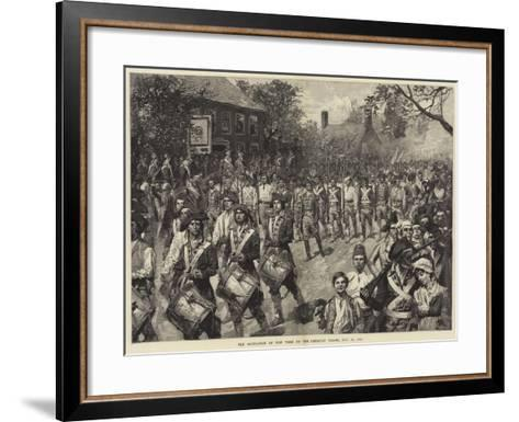 The Occupation of New York by the American Troops, 25 November 1783--Framed Art Print