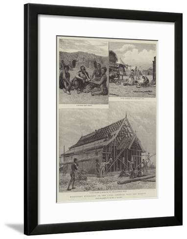 Missionary Enterprise on the Upper Zambesia, with the Barotsi--Framed Art Print