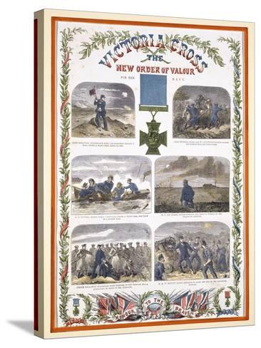 Victoria Cross, the New Order of Valour for the Army, C.1856--Stretched Canvas Print